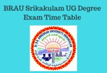 BR Ambedkar University Srikakulam UG Degree Exams Time Table 2018 released at brau.edu.in