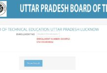 BTEUP Polytechnic Diploma Odd Semester Exam Results released at bteup.ac.in