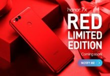 Honor 7X Red Color Launched in India at Rs 12,999