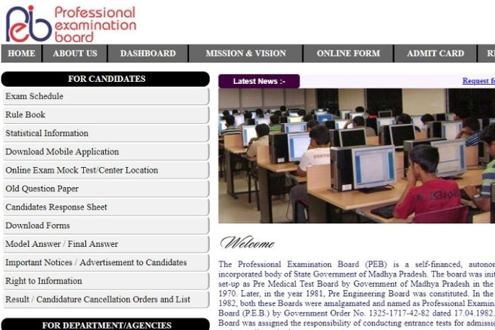 MPPEB Group 2 (Sub Group 3) CRT 2018 Online Form Opened @ peb.mponline.gov.in