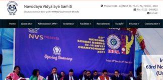 Navodaya Vidyalaya Samiti conducts JNVST 2018 Exam date on April 21 2018