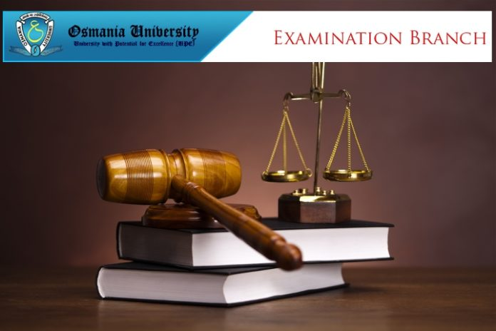 OU LLM LLB Semester Exams Time Table Released, Check at ouexams.in