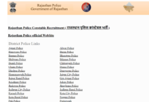 Rajasthan Police Constable Admit Card 2018 released @ police.rajasthan.gov.in