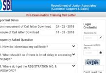 SBI Junior Associates Exam Call Letter, Admit Card Download at ibps.sifyitest.com