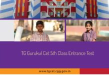 Telangana TG Gurukul CET 2018-5th Class Entrance Test Schedule dates released