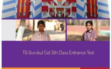 Telangana TG Gurukul CET 2018-5th Class Entrance Test Schedule dates released