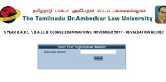 TNDALU UG Degree Exam November Results declared at tndalu.ac.in