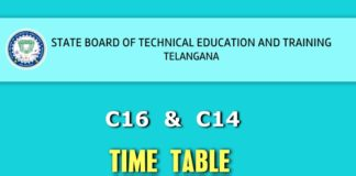 TS SBTET C16 C14 Unit Test 2 Time Table Released Theory Exams start from March 5
