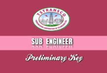 TSTRANSCO Sub Engineer Preliminary Key 2018