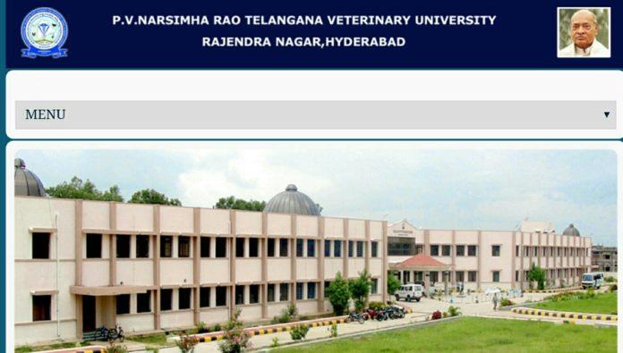 PV Narasimha Rao BVSc, AH, UG NEET 2018 Notification at @ tsvu.nic.in