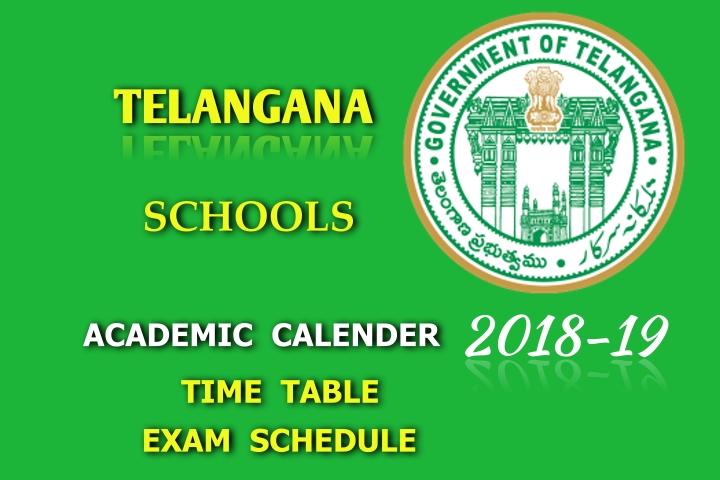 telangana schools academic calendar 2018 19 exam schedule. Black Bedroom Furniture Sets. Home Design Ideas