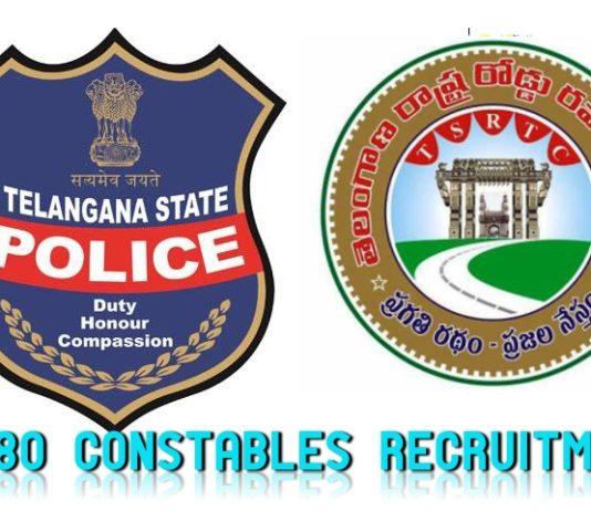 Telangana Govt green signal to fill TSRTC 280 Constable Posts through TSLPRB