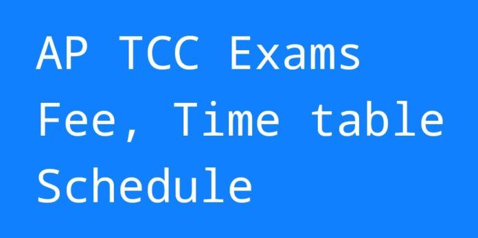 AP Technical Certificate Course (TCC) Exams Schedule released