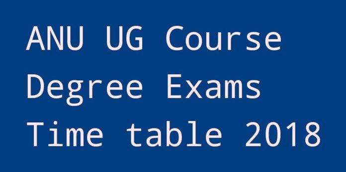 ANU UG Degree Courses Exams Time Table 2018 at nagarjunauniversity.ac.in