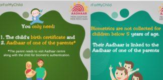 UIDAI Introduces Baal Aadhaar Card For Below 5 Years Children