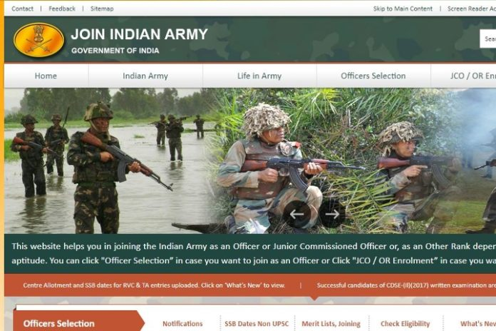 Varanasi Army Recruitment Rally Online Opened, Rally from April 20 to May 02