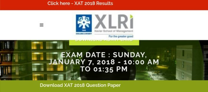 XAT Results 2018 Released at xatonline.in, Download Score card now