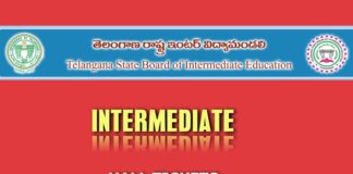 BIE Telangana Inter 1st & 2nd Year Hall tickets Download at bie.telangana.gov.in