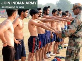 Haryana Army Recruitment Rally at Bhiwani from 15th to 22nd May 2018