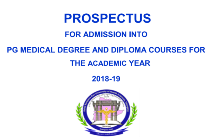 KNRUHS PG admissions Online apply at tgspgmed.tsche.in