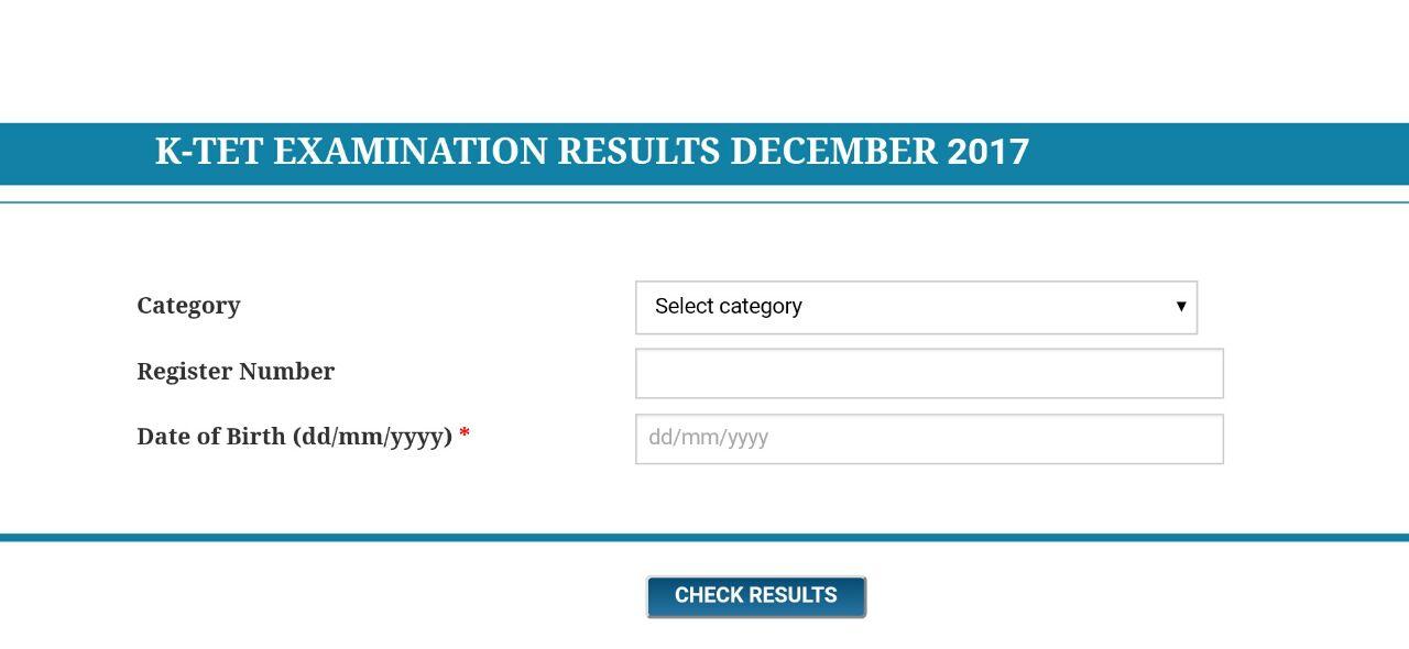 Ktet 2017 Result Get Kerala Tet Result Bpekerala In Tet 2017