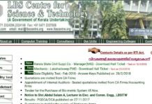 Kerala SET 2018 Answer Key Released at ibskerala.com