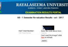 RUK University UG 1st, 3rd Sem Degree Exams Results Declared