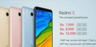 Redmi 5 sale with Jio Cashback, Price drop to Rs 5,799/-