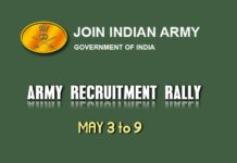 HP Shimla Army Recruitment Rally 2018 at Averipatti From May 3 to 9
