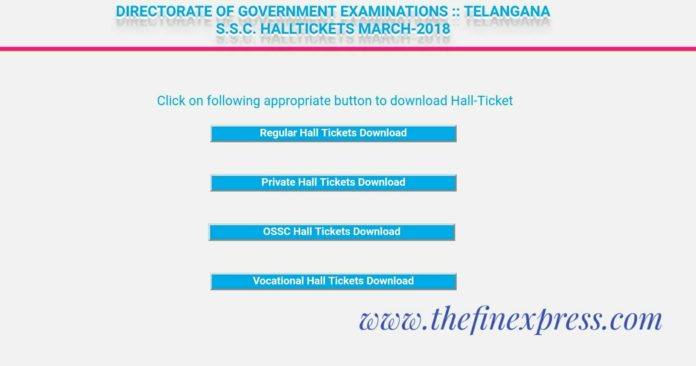 TS 10th Class School Wise Hall tickets download now at @bse.telangana.gov.in