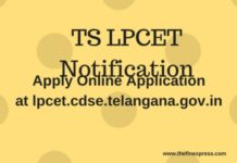 TS LPCET 2018 Notification released at lpcet.cdse.telangana.gov.in