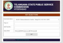 TS TRT Key Objections Opened for SGT, PET, LP, SA Posts at tskeyobj.tspsc.gov.in