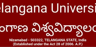 TU BEd Exam Time Table released at telanganauniversity.ac.in