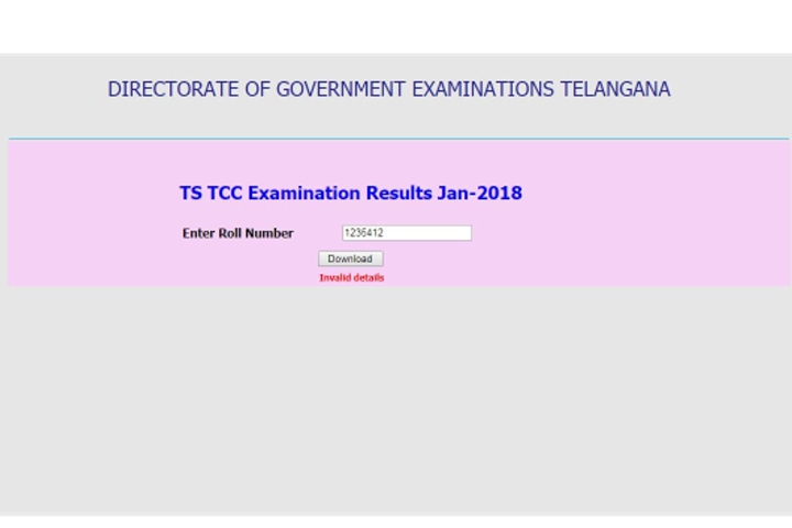 Telangana Technical Certificate Course Results