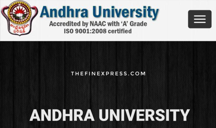 Andhra University B.Ed Notification released, Apply Distance AU B.Ed Notification
