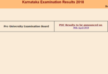 Karnataka PUC Results 2018 to be released today at karresults.nic.in