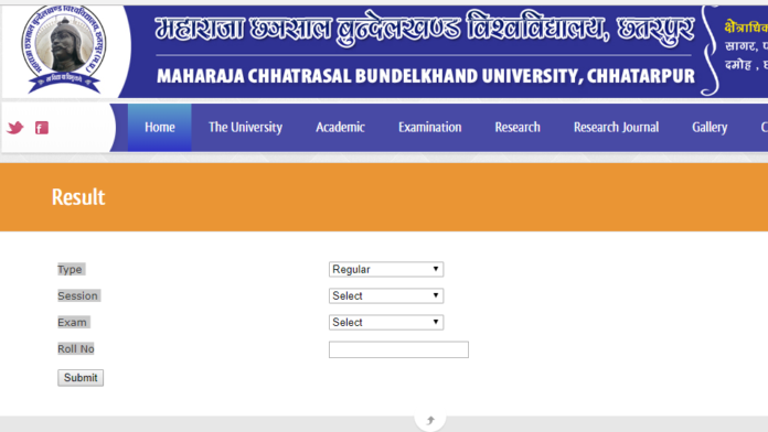 MCBU Degree Results released at mchhatrasaluniversity.com