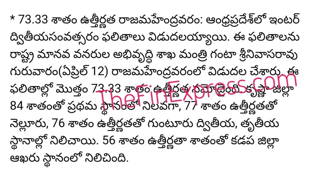 AP Inter 2nd Year Results 2018 declared at www.results.apcfss.in