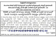 Telangana TG Gurukul JC CET 2018 Jr Inter Admissions Notification released