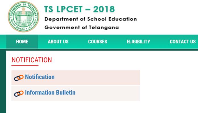 TSLPCET 2018 Online, Eligibility released @ lpcet.cdse.telangana.gov.in