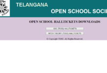 Telangana Open School Hall tickets 2018 released download SSC, Inter hall tickets