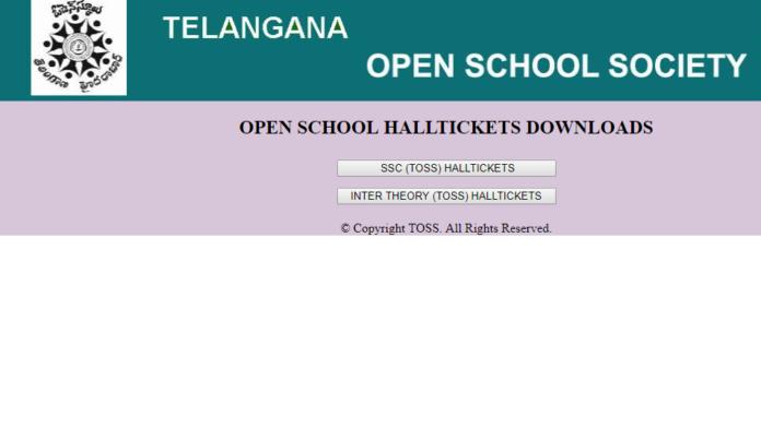 Telangana Open School Hall tickets 2018 released download SSC, Inter hall tickets