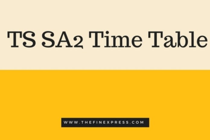 Telangana SA 2 Exams from Today, Download Summative Assessment 2 Time table