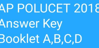AP Polycet 2018 Answer Key released Booklet Code A, B, C, D