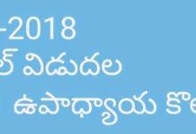 AP DSC 2018 Vacancies Category Wise, SA, SGT, LP, PET, and Model Schools