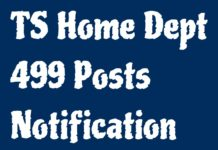 Telangana finance dept approved Home Department 499 Posts
