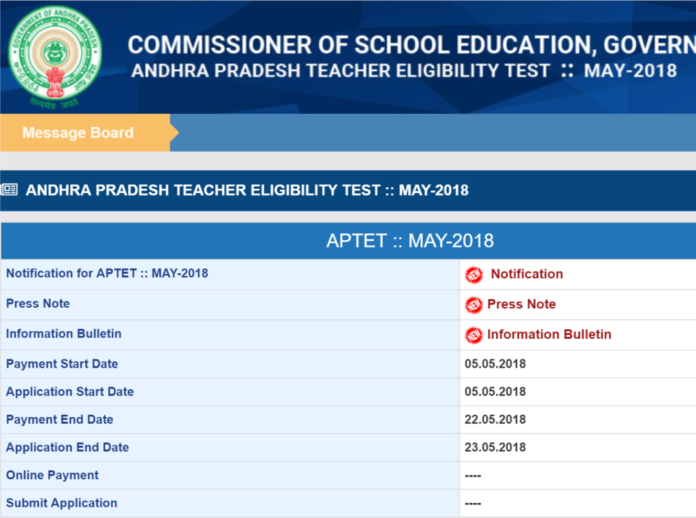 APTET 2018 May Notification Released; Know Eligibility Guidelines as Per G.O 25