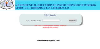 APRJC CET Results 2018, RDC CET 2018 Results released, Certificate Verification Documents