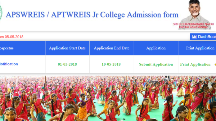 APSWREIS Intermediate Admission Notification 2018 released Online at apgpcet.apcfss.in
