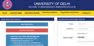 Delhi University UG Courses Admission 2018 Online Application Opened at ug.du.ac.in